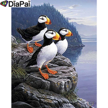 DIAPAI Diamond Painting 5D DIY 100% Full Square/Round Drill puffin painting Embroidery Cross Stitch 3D Decor A22795