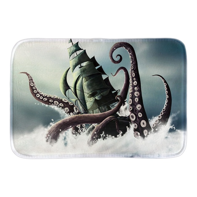 Home Door Mat Decor With Kraken Pirate Of Caribbean Indoor Outdoor Bathroom Doormat For Home Office