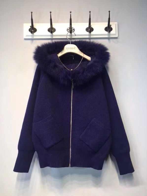 Джемпер 2018 зимний компьютерный вязаный с капюшоном Полный кардиган нет новый женский свитер настоящая шляпа кашемировый вязаный жакет женский