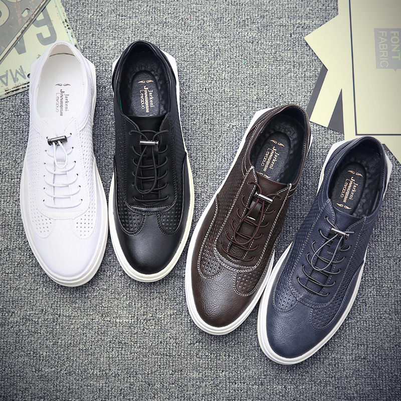 Qualities Summer New White Shoes Men Vintage Tide Wild Travel Shoes Men Breathable Sports Shoes Male fFlat Leather Shoes Walking