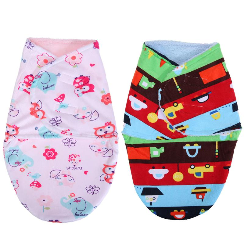 Baby Swaddle Wrap Flannel Envelopes for Newborns Soft Warm Blanket Swaddling Infant Sleepsack Bedding Sleeping Bag