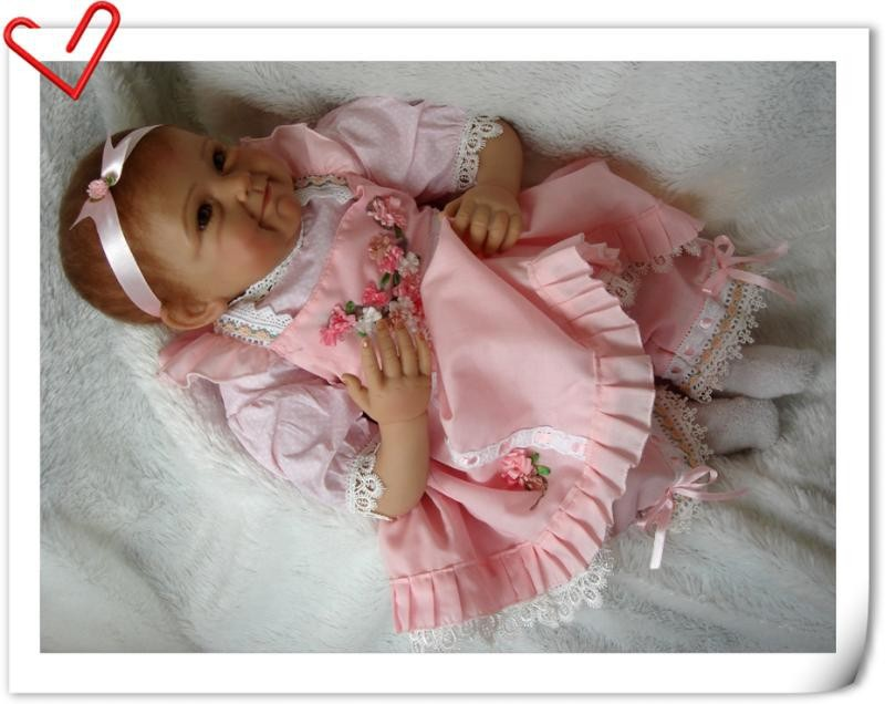 Image 5 - NPK New Arrival 55CM high quality magnetic pacifier Realistic Handmade Baby Doll Alive Girls Lovely Silicone Reborn bebes Doll-in Dolls from Toys & Hobbies