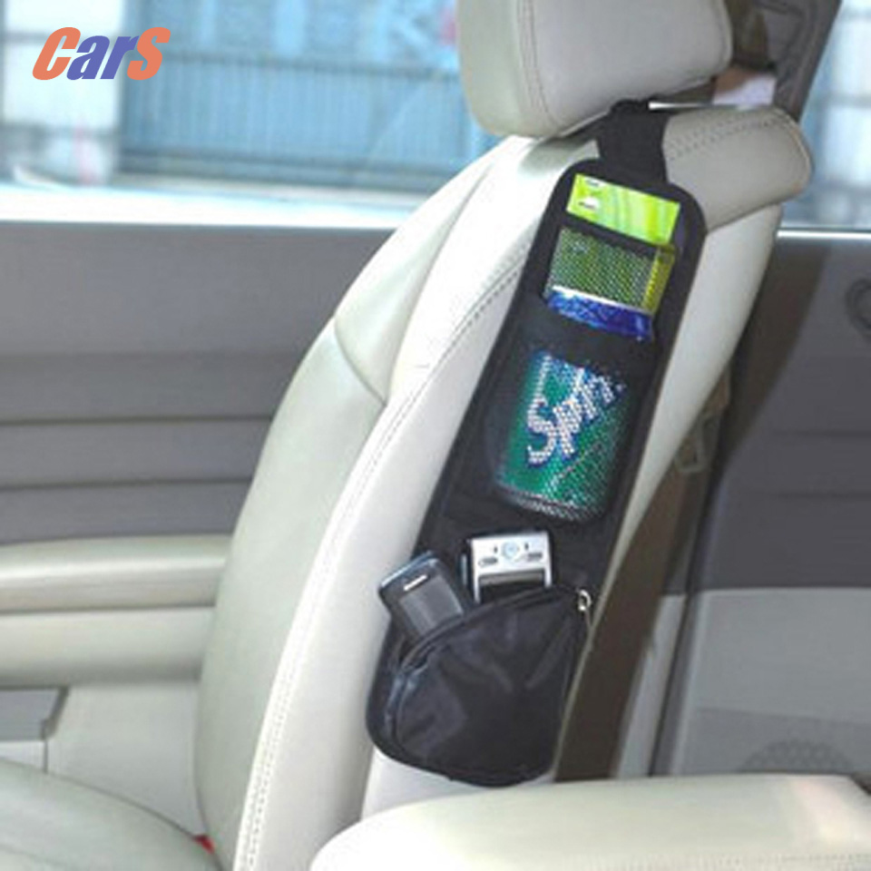 Car Organizer Storage Bag Seat Chair Side Bag Hanging Organizer Multi-Pocket Bag for Map/magazine/book Phone car styling