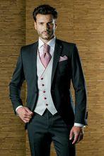 Latest Coat Pant Designs Black Formal Men Suit Skinny Blazer Masculino Custom Wedding Prom Jacket Simple