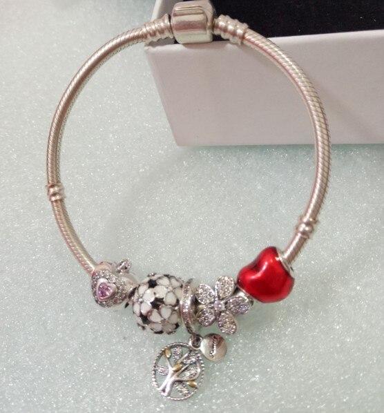 Простой Стиль 925 серебряный браслет подарок ювелирных изделий Любовь Свадебный банкет оптом Одежда высшего качества