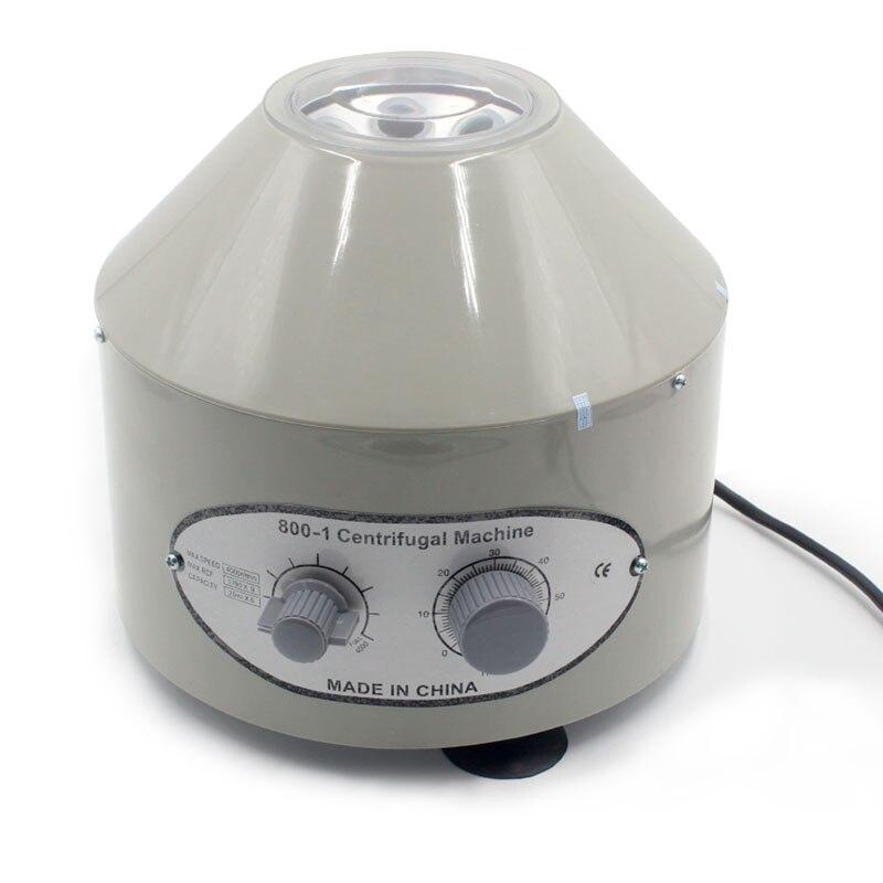800-1 Électrique Centrifugeuse De Laboratoire Médical Pratique machine Fournitures prp Isoler sérum 4000 rpm 1760g 20 ml x 6 tubes à centrifuger