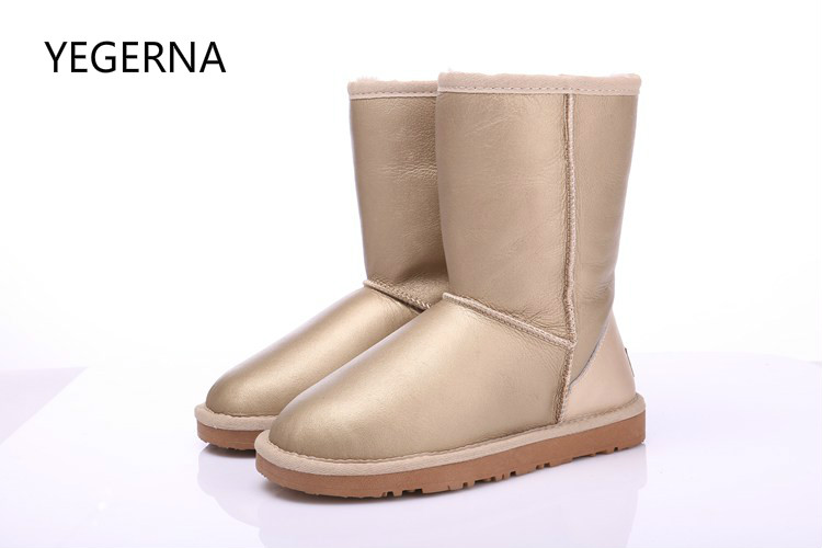 Australia Classic fashion boots women boots Nature fur Wool real sheepskin leather snow boots for women warm shoes High Quality цены онлайн