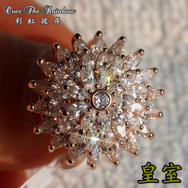 The royal series full nobility female full rhinestone ring
