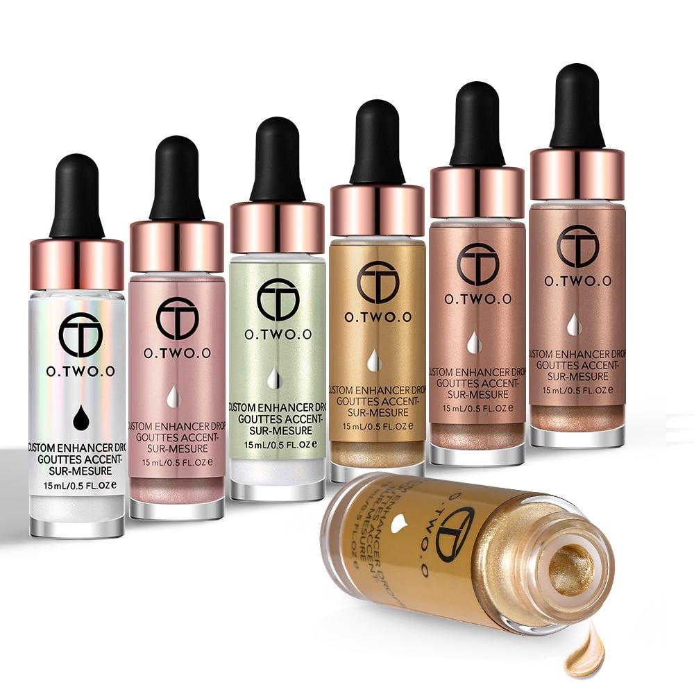 O. TWO. O 6 pièces/ensemble surligneur liquide maquillage surligneur crème scintillante visage éclat Ultra-concentré illuminant