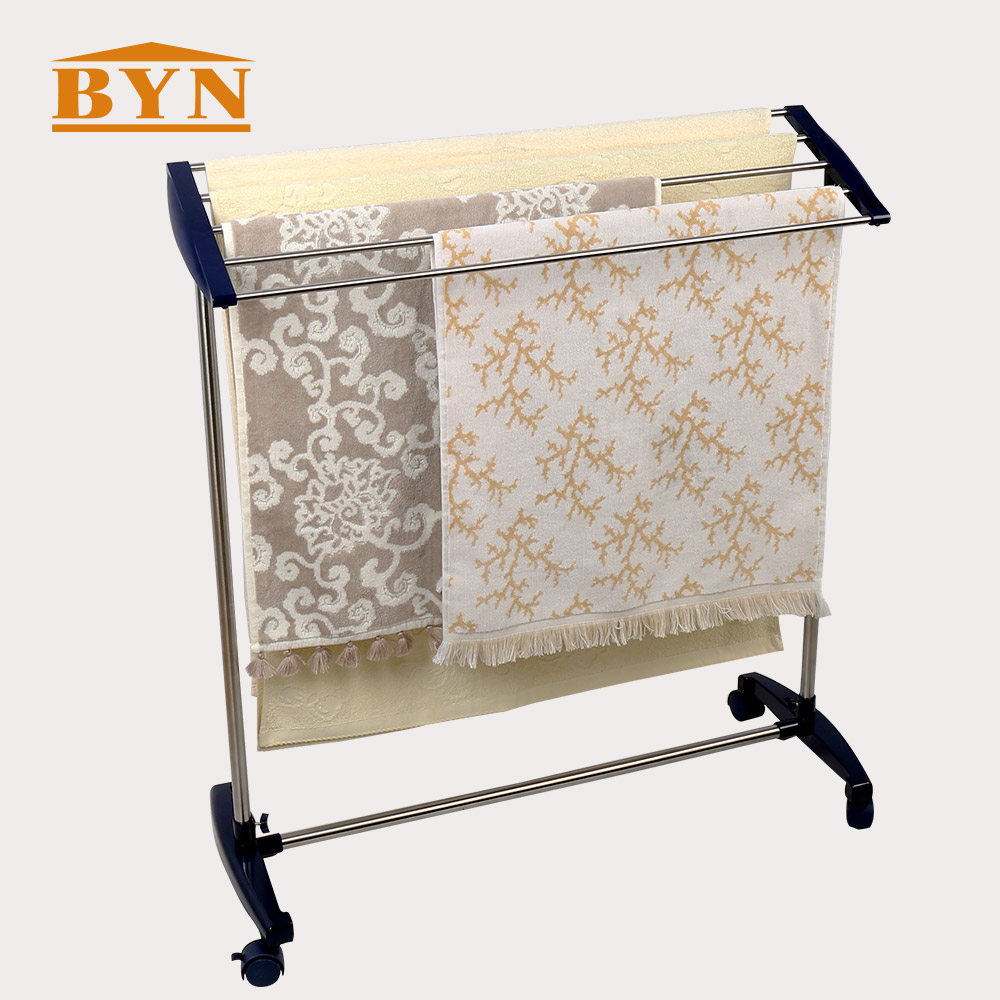 BYN Metal Free Standing Towel Rack Stand Stainless Steel ...