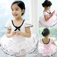 Girl Lace Wedding Birthday Party Dress Ballet Dance Dress Children Latin Dancing Clothes Kids Gymnastics Leotard