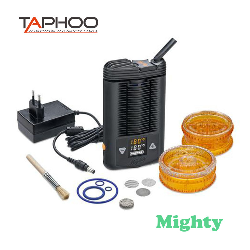 TAPHOO Mighty Portatile Vaporizzatore erba secca Liscio fresco vapo Erba Secca Mighty Mod Con Scatola di controllo della Temperatura Mod Vape e -cig