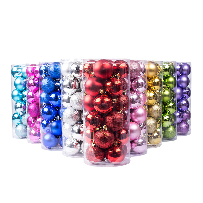 24Pcs Christmas Balls 30mm Plastic Gift Ball Christmas Tree Ornaments Christmas Ball Ornament ...