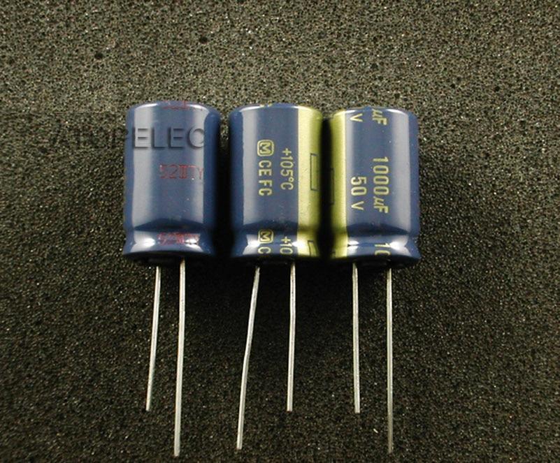 Электролитические конденсаторы серии FC 1000 мкФ/50 V, Hi Fi аудио 105 Deg. C, 1 шт. deg      АлиЭкспресс