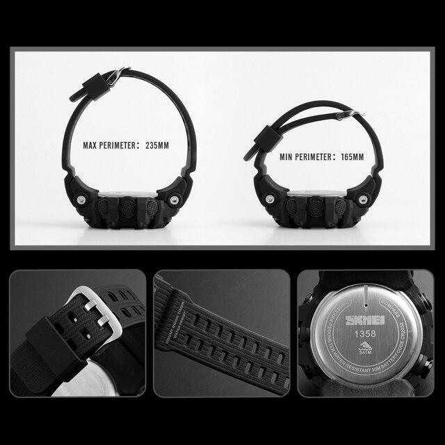 SKMEI Mens Sport Watch Fashion Men's Digital Watch Altimeter Barometer Compass Temperature Weather Electronic Luxury Men Watches 3