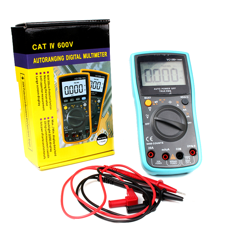 True RMS 6000 Counts Backlight LCD display Low voltage indication AC/DC Display Multimeter