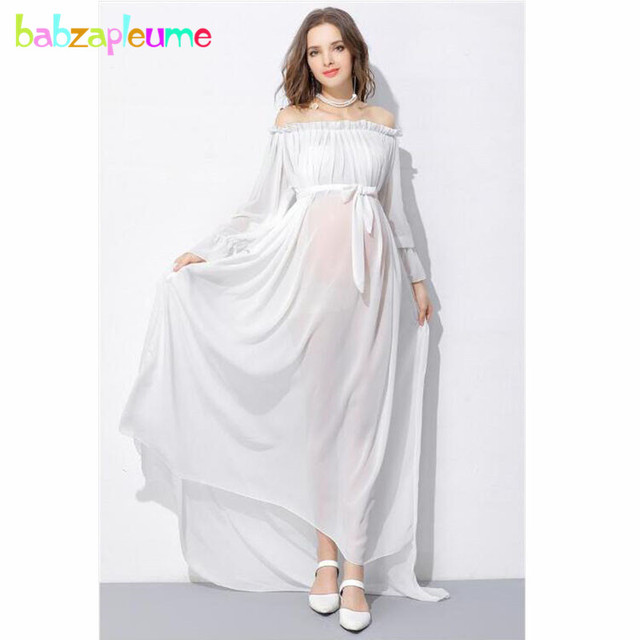Summer Fashion Maternity White Dress For Photograph Shooting Photo ...