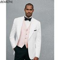 men dress for wedding tuxedo groom suits white custom made suit 2019