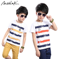 ActhInK Big Boys New Summer Casual Color Striped Pullover+Shorts Set Brand Fashion Kids Korean Cotton Sports Clothing Set, MC229