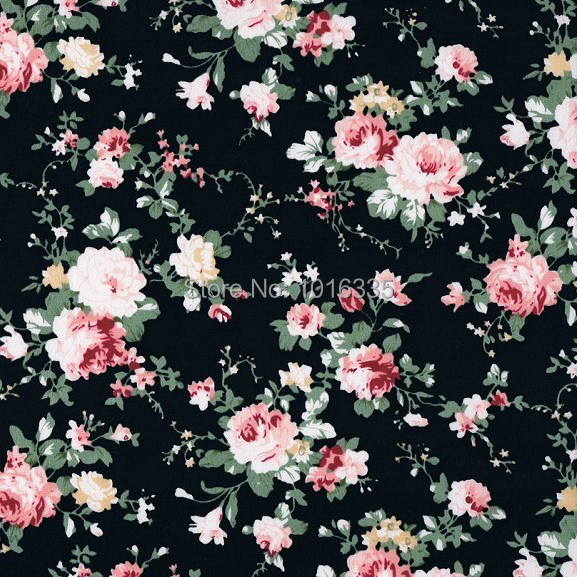 Aliexpress.com : Buy Hot Sale Black Roses Flowers 100% Cotton Fabric 2 Yards,Width 1.45 Meter