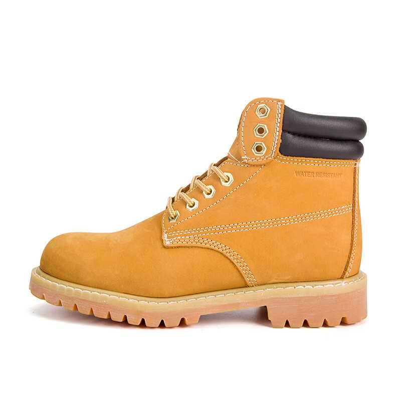 FONIRRA אמיתי עור גברים קרסול מגפי וינטג אנטי להחליק נעלי נעליים בסגנון בריטי חורף באיכות גבוהה גברים נעליים יומיומיות 409