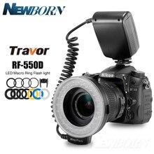 RF 550D 48Pcs Macro Led Ring Flash Bundel Met 8 Adapter Ring Voor Canon Nikon Pentax Olympus Panasonic Dslr Camera flash