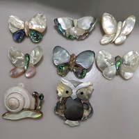Natural Sea Shell Butterfly Brooch Pins Pink White Black Color Natural Color Cute Fashion Jewelry For