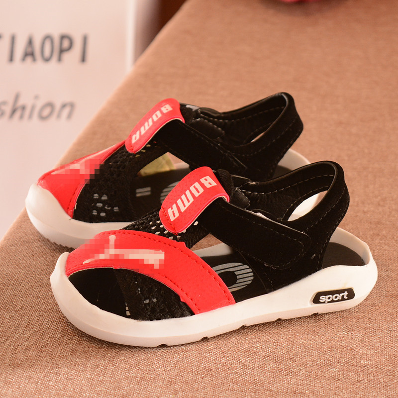 Dropshipping New Spring And Summer Children's Sandals Kid  Boys Soft Flat Bottom Beach Male Baby Kids Sandals Mini Melissa Shoes|Sandals| |  - title=