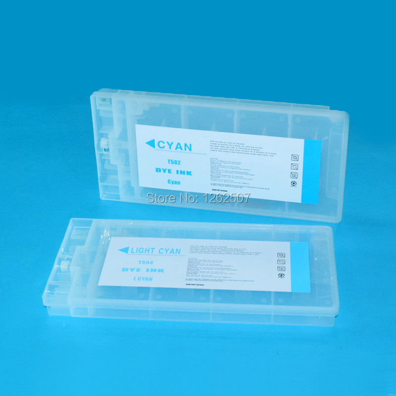 850ml Compatible Empty Refillable ink cartridge T499-T504 for Epson stylus Pro10000 Pro10600 printers with chip