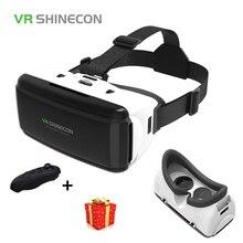 Шлем Shinecon шлем 3D VR Очки виртуальной реальности объектив для смартфонов смартфон Google картонные очки мобильный 3 D Android