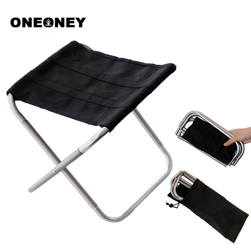 Oneoney 1pc Portable Outdoors Camping Folding Fishing Chair BBQ Bench Seat Oxford Cloth Foldable Picnic Fishing Chair With Bag