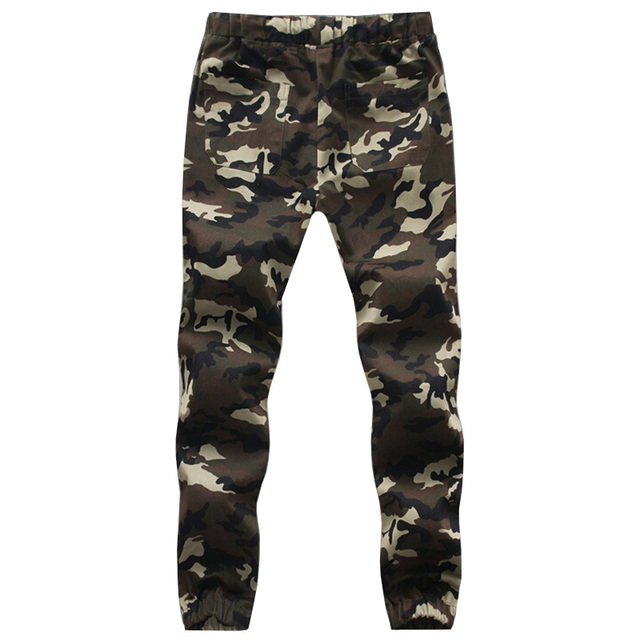 Hot sale  army fashion hanging crotch jogger pants patchwork harem pants men big military Camouflage pant Outwear trousers