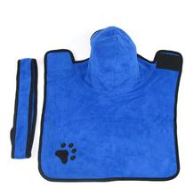 New Pet Bathrobe Fast Dry Pet Bath Towel Quickly Absorbing Water Bath Robe for Dog and Cat Blue XS S M L XL 8in1 cat stain and odor exterminator nm jfc s