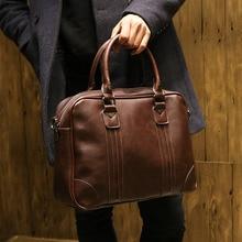 2016 Men Casual Briefcase Business Shoulder Leather Messenger Bags Computer Laptop Handbag Men's handbag
