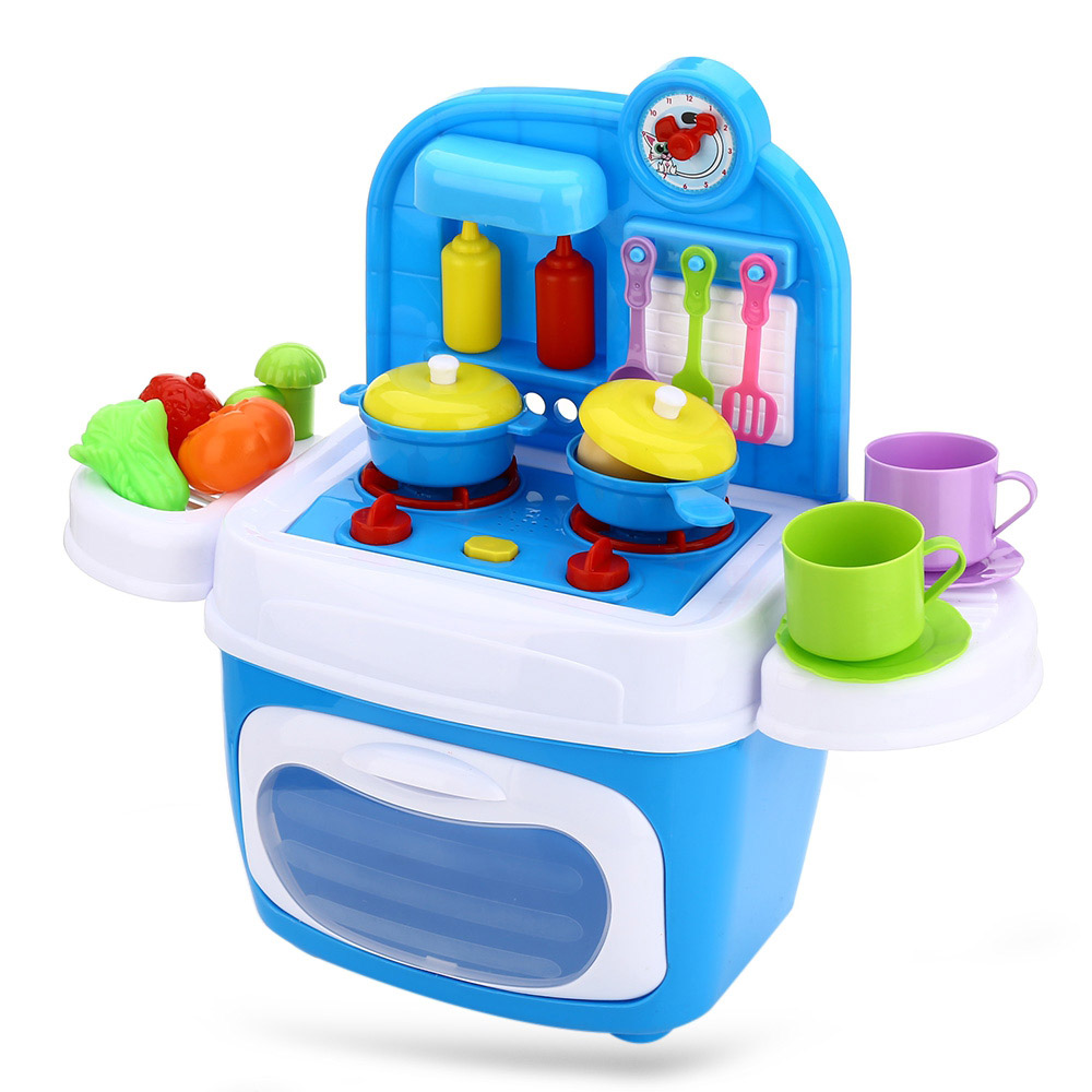 24pcs Children Kids Plastic Cooking Tools Play Education Kitchen Accessories Toys Cookware Pot Pan Brinquedo