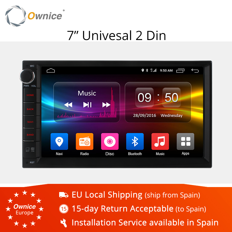 Ownice K1 K2 Android 8.1 Octa 8 core Radio 2 DIN 2 GB RAM 32 GB ROM universel Radio gps support wifi 4G LTE Réseau DAB + aucun dvd