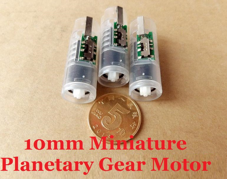 New Arrival 10PCS DC3V 6V 160 360RPM 10MM Micro Planetary Gear Motor With 7MM Coreless Gear