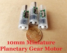 New Arrival 10PCS DC3V-6V 160-360RPM 10MM Micro Planetary Gear Motor With 7MM Coreless Gear Motor And Switch CW/CCW/Stop