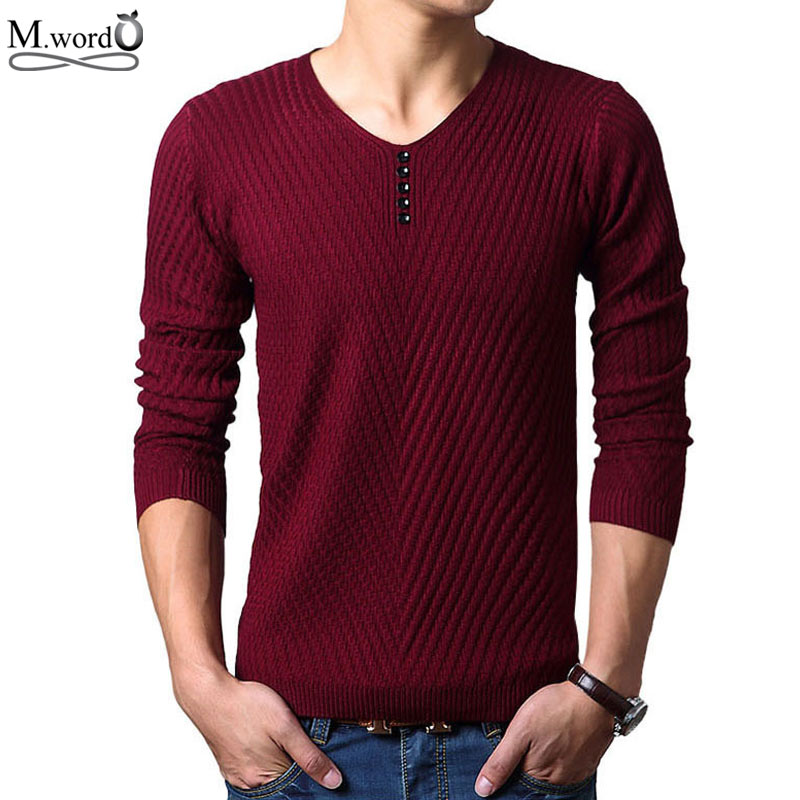 Big Size 4XL 2019 Spring Men Dress Knitted Sweater Men Sweaters Brand Male Clothing Casual Shirt Pullover Shirt V-Neck