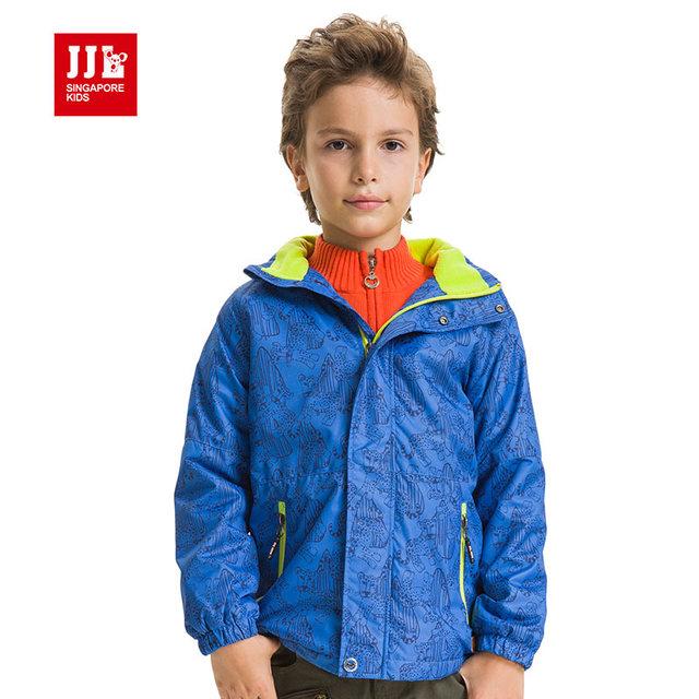 Niños niños abrigo de invierno outwear niños de la marca cazadora caliente forro chaqueta de los muchachos de la ropa de marca 2015