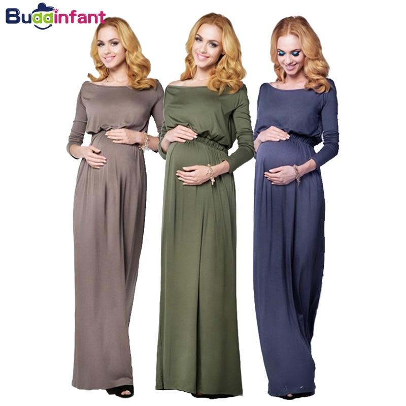 Maternity & Pregnant Long Dress for Photography Props Spandex Casual Elegant Dresses Photo Shoot Women Pregnancy Soft Clothes photo shoot