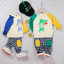 2019 Autumn  Baby Boys Girls Clothing Sets Infant Toddler Clothes Suits Cartoon  T Shirt  Pants Kids Children Costume Suit цена в Москве и Питере