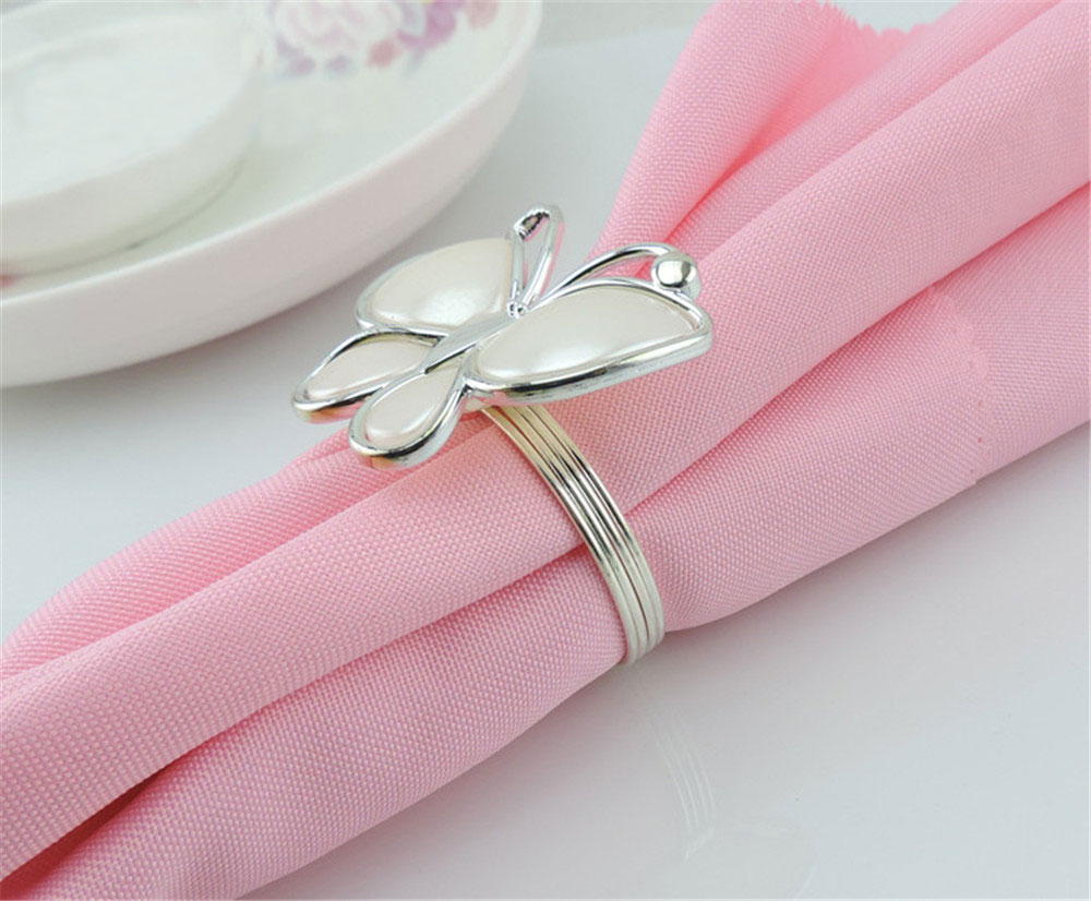 12 Pcs Napkin Rings For Weddings Party Table Decoration Silver ...
