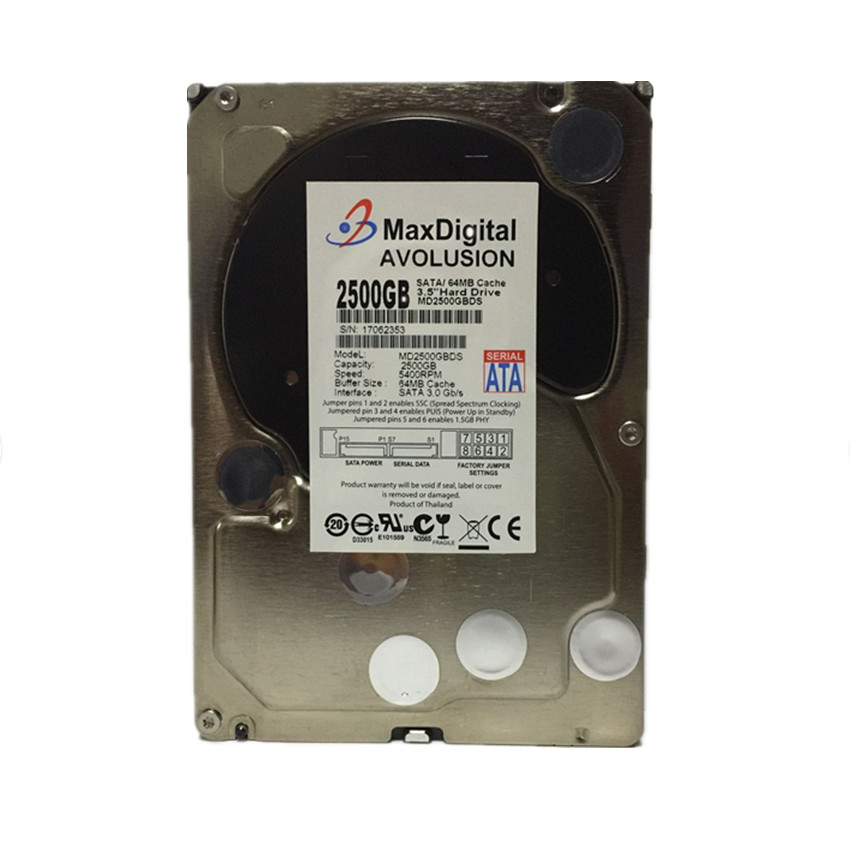 2500GB SATA 3.5inch Enterprise Grade Security CCTV Hard Drive Warranty for 1-year hard drive 005048583 3 5 73gb 15k scsi 16mb one year warranty