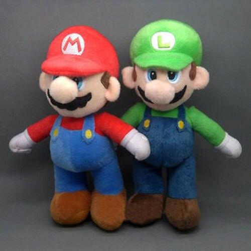 8 인치/20 센치메터 새로운 슈퍼 마리오 브라더스 스탠드 루이지 및 마리오 봉제 인형 인형 장난감
