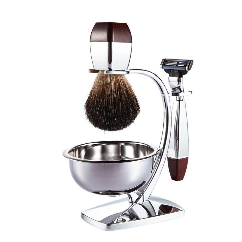 Pro Classic Men's Shaving Set Men Bear Removing Brush Straight Razor Brush Bowl Beard Husband Gift Hair Removing Tools 2018 New