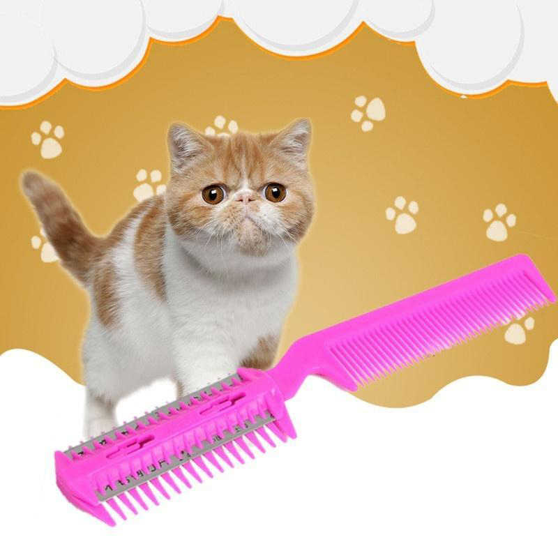 Hair Remover Pet Hair Trimmer Comb Cutting Cut Dog Cat With 4 Blades Grooming Razor Thinning Hairbrush Comb Products For Cats