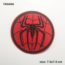 Red spider Embroidered Patches for Clothing Stripes Applique Clothes Stickers Iron on Badges