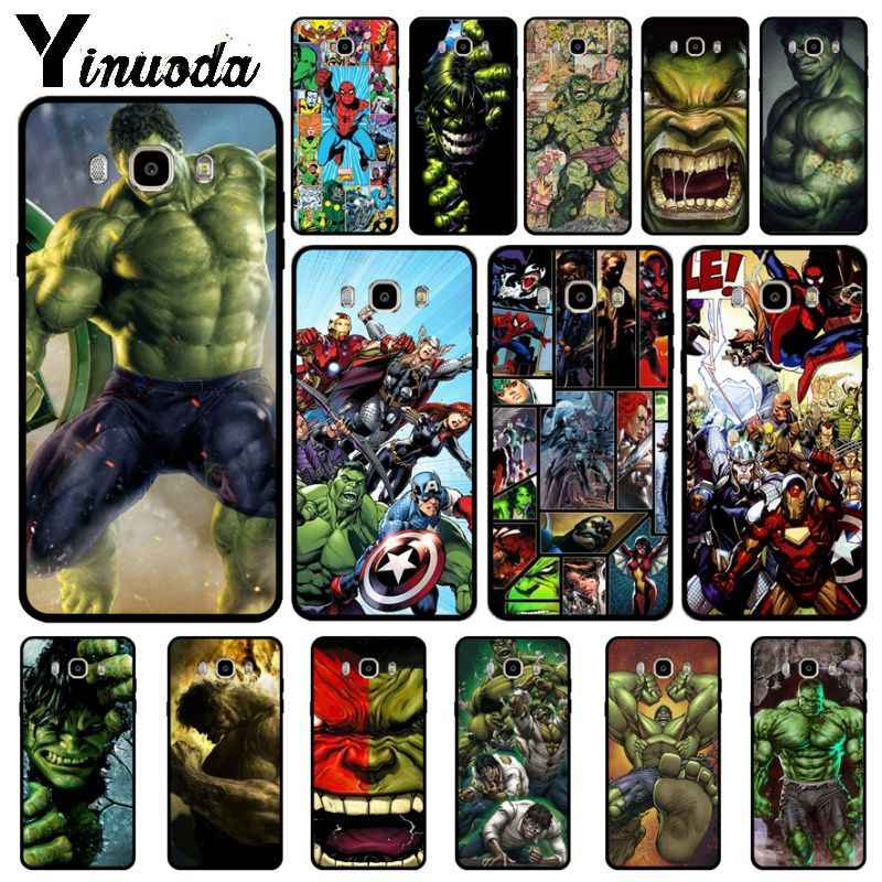Yinuoda Marvel Comics Hulk ยักษ์ Robert Bruce โทรศัพท์กรณีสำหรับ Samsung Galaxy j6plus j7 prime j8 j2 prime j4plus 2018 coque
