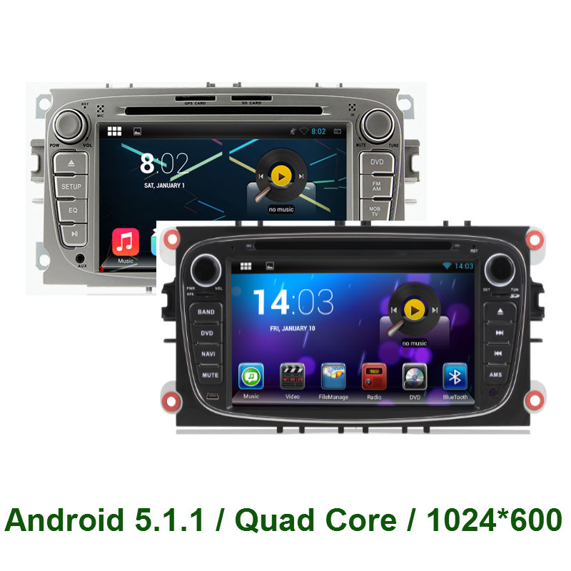 Quad Core Android 5.1 CAR DVD GPS PLAYER For Ford Focus 2007-2010 MONDEO 2007-2011 S-max 2008-2010 TRANSITCONNECT 2010 Radio 3G